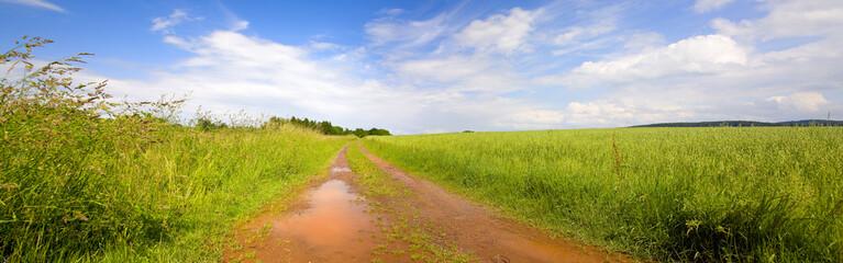 Field break-stone road