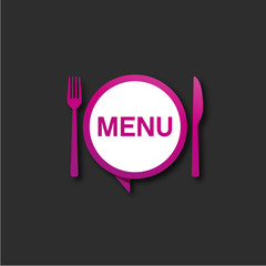 assiette et couvert