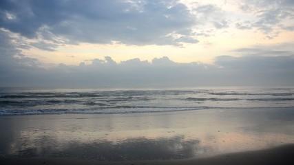 Morning and sunrise time at Hat Chao Samran beach in Phetchaburi