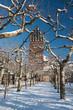 Leinwanddruck Bild - Fünf - Finger Turm Mathildenhöhe Darmstadt - Hochzeitsturm