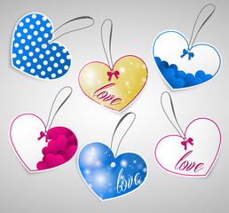 Heart tag set