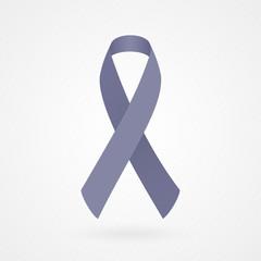 Periwinkle awareness ribbon