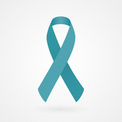 Teal awareness ribbon