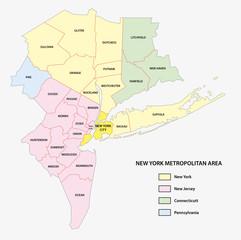 new york metropolitan area map
