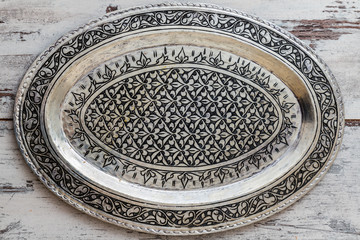 Turkish Traditional Silver Tray