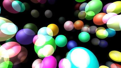 Flying transparent spheres generated 3D video