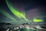Fototapeta Beautiful Arctic winter landscape