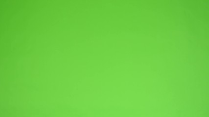 handsome black man show up and smiles - green screen