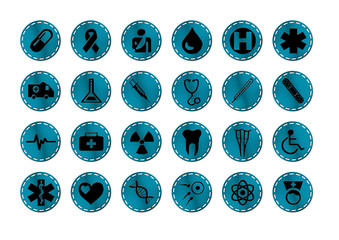 Medizin Buttons - Logos