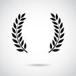 Laurel vector icon.