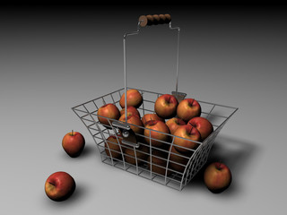 Cestello di mele rosse
