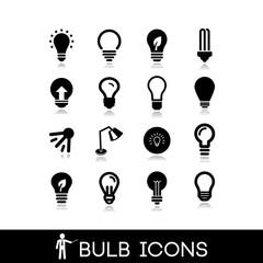 Light bulbs icons set 6