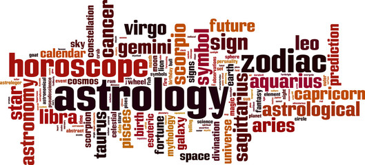 Astrology word cloud concept. Vector illustration