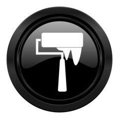 brush black icon paint sign