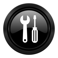 tools black icon service sign