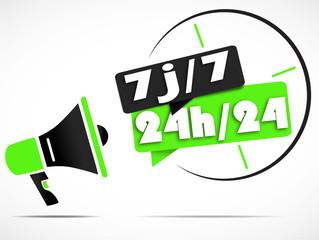 megaphone : 7j/7 24h/24