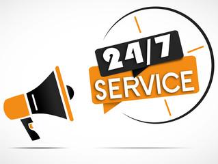 megaphone : 7j/7 24h/24 service