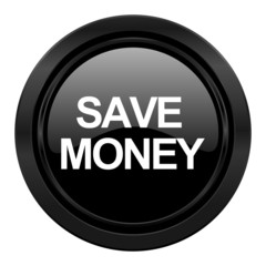 save money black icon