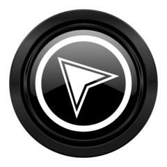 navigation black icon