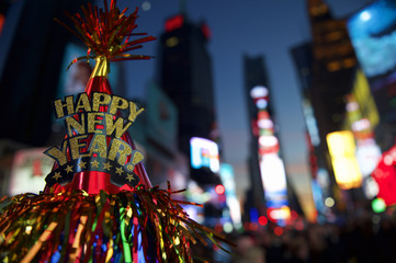 Happy New Year Hat Times Square New York