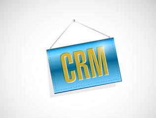 crm hanging banner sign illustration
