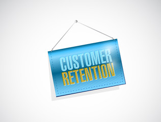 customer retention hanging banner