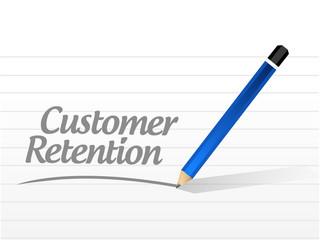 customer retention message sign