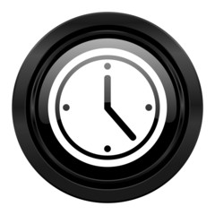 time black icon watch sign
