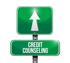 credit counseling street sign illustration design