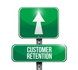 customer retention street sign