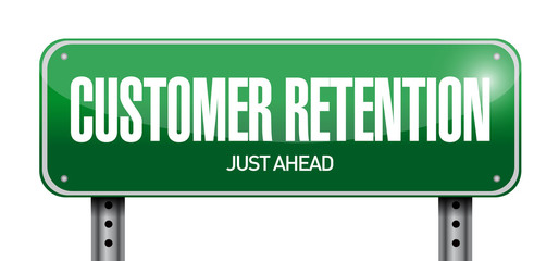 customer retention sign illustration