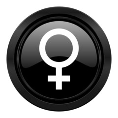 female black icon female gender sign