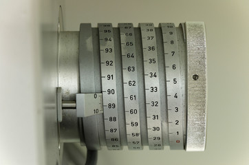 Scale on ancient measurement device