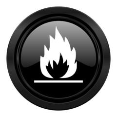 flame black icon