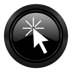 click here black icon