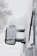 Wintereinbruch auf der Straße