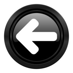 left arrow black icon arrow sign