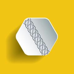 Chain on hexagon