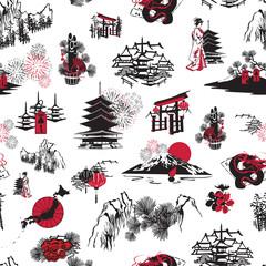 seamless pattern Japanese