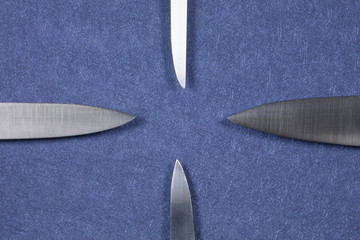 four knife silver blades