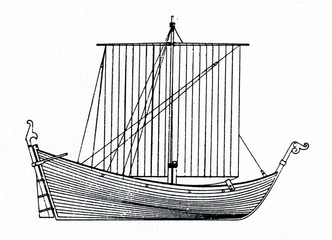 English ship with stern-mounted rudder 1362