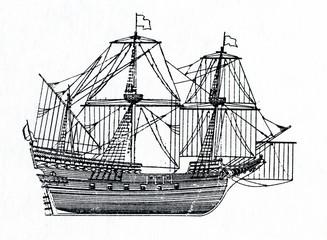 Galleon, 16-th century