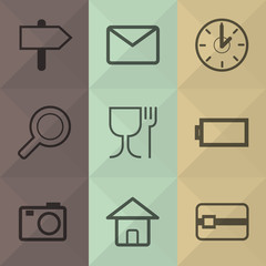 Technology and office icons set great for any use. Vector EPS10.