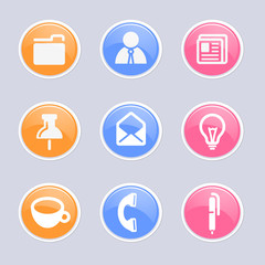 Business & office icons set great for any use. Vector EPS10.
