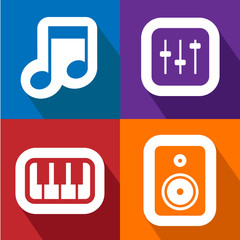 Sound icons set great for any use. Vector EPS10.