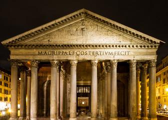 Roman Pantheon at night
