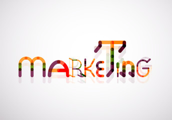 Marketing word font concept