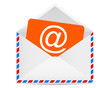 Letter to the e-mail symbol