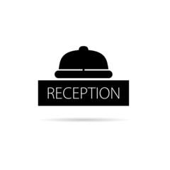 reception bell icon vector illustration