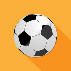 Soccer Ball Large icon great for any use, Vector EPS10.